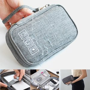 Organizer Wires Charger Digital Usb Gadget Portable Cable Bag Electronic Earphone Case Zipper Storage Pouch Accessories travel