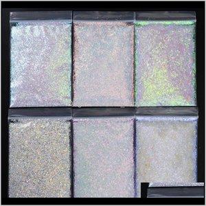 500Gbag White Irregular Sequins Chameleon Shining Manicure Laser Powder Ab Beauty P84Ye Oydbi