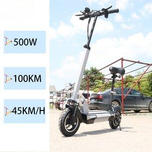 500 W 48 KM / H Elektrikli Scooter 100 KM Uzun Mesafe 10 inç LCD Ekran 5A 26A Kaykay Scooter Elektrikli Yetişkin E Scooter Bisiklet