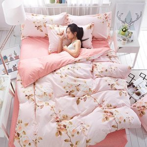 Sheets & Sets 1.2 1.5 1.8 2M Soft Texture Modern Bedding Set Starry Sky Printing Bed Washable Cover Pastoral Sheet Textiles