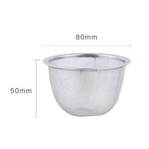 Tear-Tea Passoire Réutilisable 8cm Diamètre En acier inoxydable Tea Infuser Théière Théière Théière Feuille d'épice Filtrer à boissons Cuisine Accessoires de cuisine
