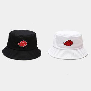 Harajuku wind auspicious cloud pattern embroidery fisherman's hat tide outdoor sunscreen sun hat student couple basin hat