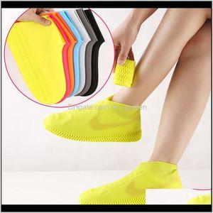 Raincoats Reusable Waterproof Sile Shoes Cover Unisex Rainproof Boots Nonslip Overshoes Thick Wearresistant Portable Outdoor Rain Cfyl Y8Xoa