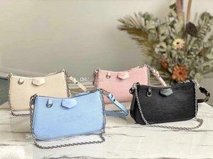 Women Luxurys Designers Bags M80471 EASY POUCH ON STRAP 2021 Messenger Womens Totes Fashion Shoulder Purses Handbags Classic Crossbody Tote