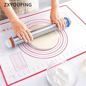17inch Stainless Steel Rolling Pin Dough Roller with 4 Removable Adjustable Thickness Rings