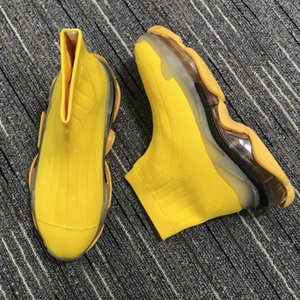 2021 Top Quality Shoes Yellow Speed Trainer Casual Shoses Man Women Socks Boots With Box Srtech Knit Race Runner Sneakers Height Increasing 35-45