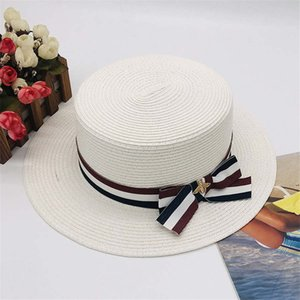 Luxury Lady Little Bee Beach Cap Summer Fashion Street Hats for Woman Adjustable Caps Womens White Hat Excellent Quality
