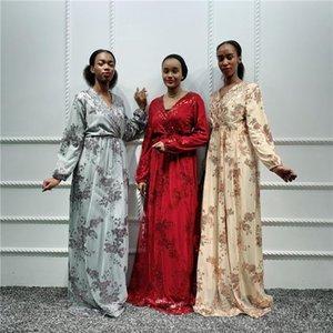 Ladies Kaftan Dubai Abaya Turkish Hijab Muslim Dress African Dresses For Women Caftan Islamic Clothing DFF0752