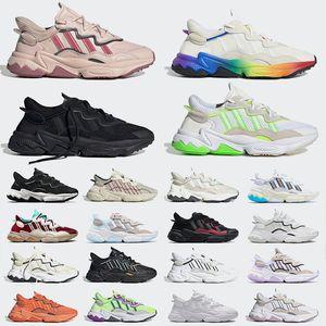 Chaussures de course pour hommes Ozweego Noir Vin blanc rouge Gris Solaire Vert Solaire Signal Violet Coral Rose Hommes Femmes Sports Sneakers Entraîneurs Taille 36-45
