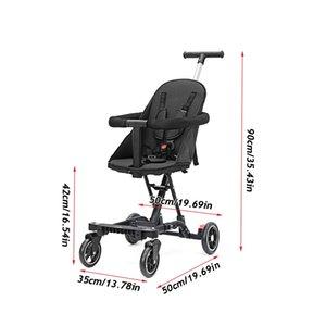 Baby Stroller Lightweight Dobrável Crianças Transportes De Segurança Social Confortável Criança Com 360 ° Quatro Roda Girando