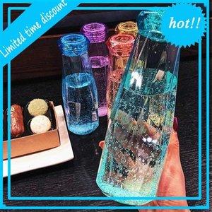 DHL 500ml plastic Bottle Fashion Travel Mug Sport Water Bottles Camping Hiking Kettle Drink Cup Diamond Gift