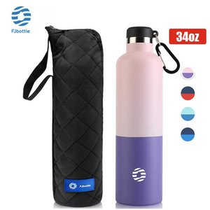 FJbottle Thermos Bottle, Vacuum Flask, Large Capacity, Keep Cold, Water Bottle For Fitness Outdoor Sports,18 10 Stainless Steel H0831
