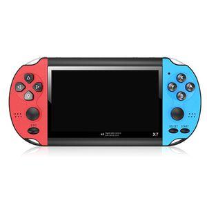 """X7 4.3 """"Видеоплеер игра Игровая консоль портативных GBA 300 Бесплатные аркады игры Ретро ЖК-дисплей контроллер для взрослых детей"""