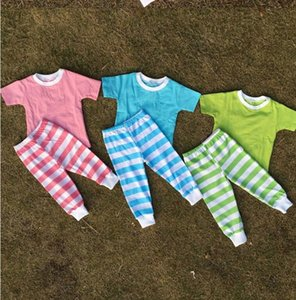 Wholesale Baby Girl And Boy Easter Day Pajamas Sets Child Benifun Kids Wear Firm Boutique Stripe