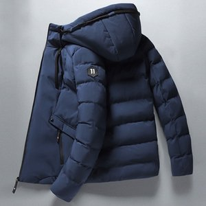 Winter New Men Parkas Solid Color Thick Jacket Mens Casual Warm Windproof Outwear Zipper Coat Male Cotton-Padded Clothing 201120