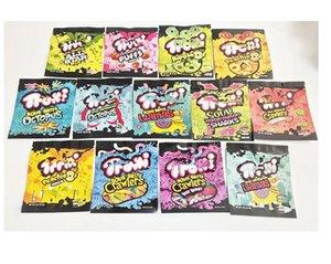 12 Tipo Mylar Bag Trolli TRRLLI ERRLLI EDIBLES Gummies Imballaggio odore a prova di odore richiudibile cerniera sacchetto 600mg Logo personalizzato Runtz