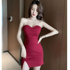 Party Dresses Nightclub evening sexy tight package hip fishtail skirt night work bra dress