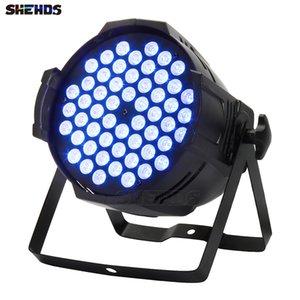 SHEHDS Stage Light Aluminum Alloy Aviation Plug LED Par 54x9W RGB Lightings DMX512 Projector Floodlight Can Wash DJ Design
