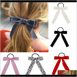 Tools Products Drop Delivery 2021 Accessories Scrunchies Veet Hairbands Women Leopard Bowknot Rope Girls Rubber Bands Gum For Hair Ties Kzkls
