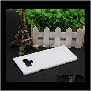 Celular 3D Sublimación en blanco Cajas de teléfonos blancos Samsung Galaxy S8 S9 8 9 para S7 S6 Edge Note 5 Funda Hard 9BT8K XEPJQ