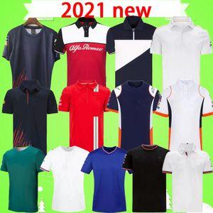 S-5XL F1 Formula Bir Yarış Takım Elbise Kısa Kollu T-Shirt Takım Takım Elbise 2021 F1 Gömlek Spor Eğlence Yuvarlak Boyun Hızlı Kuruyan Tişört Üst Yaka Setleri