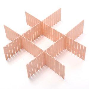 4pcs Set DIY Drawer Divider Household Storage Organizer Partition Board for Socks Underwear Organize the grid Drawer partition