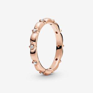 Codemonkey Authentic 925 Sterling Silber Einfache Ring für Frauen Rose Gold Farbe Mode Modeschmuck Geschenk CMR025 Clusterringe