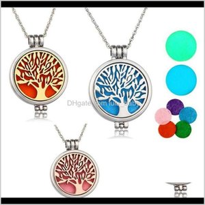 Locket Aromatherapy With Felt Pads Stainless Steel Jewelry Tree Of Life Oils Essential Diffuser N4Jsl Rlrfk