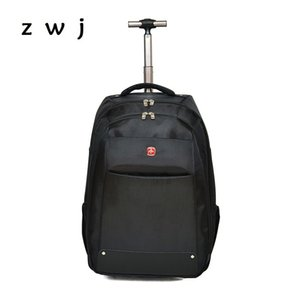 Business Backpack Men Suitcase Wheels Trolley Students Rolling Luggage Large Capacity Carry On Travel Bag LJ201111