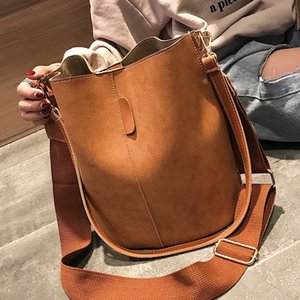 Women Bucket Shoulder Bag large capacity vintage Matte Leather lady handbag Luxury Designer bolsos mujer fashion Messenger bag