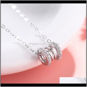 Necklaces & Pendants Jewelry Drop Delivery 2021 Love Stainless Steel Necklace Female Light Luxury Creative Spring, Hollow Pendant With Luxuri