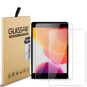 حامي شاشة زجاج مقاوم للانفجار مقاوم للانفجار لحامي iPad Air 4 10.9 11 Pro 9.7 10.5 Mini 5 6 حزمة البيع بالتجزئة