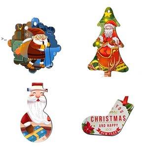 Sublimation Blank MDF Snowflake Pendant Christmas Tree ornaments Hanging Decoration Hot Transfer Printing DIY Blanks Consumable OWE9786