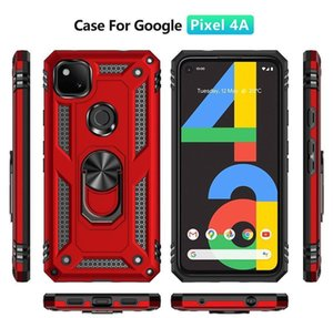 Cell Shockproof Armor Kickstand Phone Cases For Google 3A 5 4 Xl Pixel 4A 5G Case Magnetic Ring Holder Back Cover Oahuv Vfgps