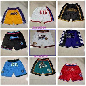 Men's Trendy Casual Sports Shorts Kings Lakers Blue Nets Heat Team