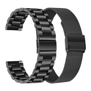 Watch Bands 22MM Metal Straps For Huawei GT GT2 46MM Honor Magic Smart Band Bracelet Stainless Strap TicWatch Pro Wrist