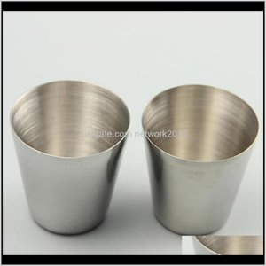 30Ml Drinking Glass Stainless Steel S Glasses Cups Wine Beer Whiskey Mugs Outdoor Travel Cup Epacket D5Oez Rnb8K
