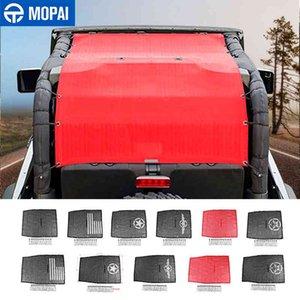 MOPAI Top Sunshade Cover JL Car Roof Anti UV Sun Insulation Net for Jeep Wrangler + 2 Door Accessories