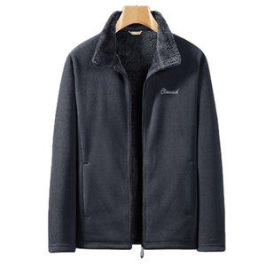 Мужские толстовки модные дизайнеры Японский и корейский флис куртка, большой толстый человек вертикальный воротник куртки Толстовки идеально подходят для джинсов и штанов