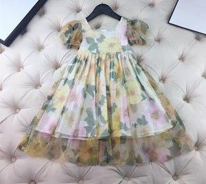 2021 Baby Girl Cute summer Children Girls Dress with short Sleeve Princess Dresses girls dress kids beautiful dress