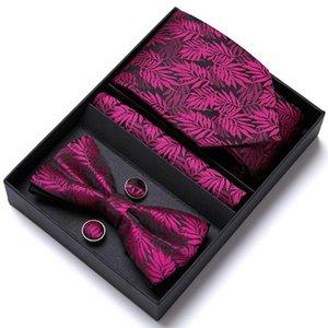 Marca de primer grado 65 colores agradable corbata hecha a mano pañuelo de bolsillo cuadrados conjunto de gemelos conjunto de cuello corbata de arco corbatas