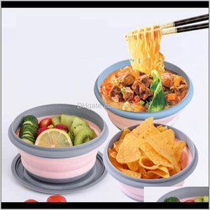 Dinnerware Kitchen, Dining Bar Home & Garden3Pcs Set Sile Foldable Bento Bowl Collapsible Portable Lunch Container Box Dinner Outdoor For Adu