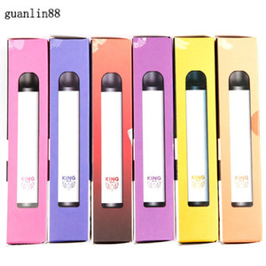 100% Original King Bar Disposable Pod Kit 3.4ml 900 Puff 650mAh Vape Pen Stick Plus System Device Genuine