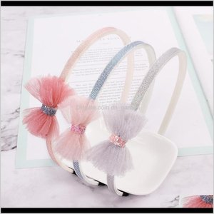 Drop Delivery 2021 Baby Headbands Girls Princess Jewelry Band Shining Bow Childrend Designer Headband Kids Lace Bowknot Hair Accessories Gilp