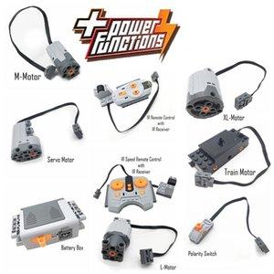 Yüksek teknoloji parçaları bloklar oyuncaklar çok fonksiyonlu güç kaynağı ünitesi servo motor hız kontrol rc pf model yapı taşı kiti oyuncak