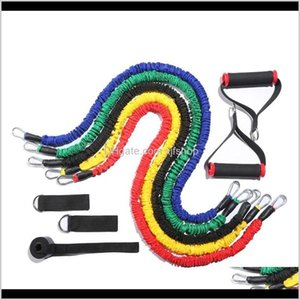 11 Piece Set Resistance Bands Pulling Rope Workout Equipment Home Antibreak Fitness Elastic Band For Sports 6J36C Gpeez