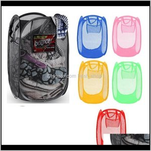 Clothing Wardrobe Foldable Basket Breathable Sorting Box Laundry Net Bag Storage Various Sundries Basketball Towel Shoes Environmental 39Ilm