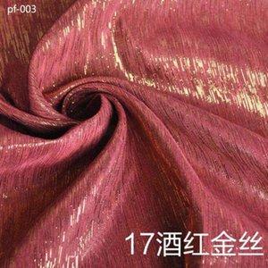 metallic Flashing knitted poly cotton fabric shantung silk bridal dress cheongsam bag curtain material 50cm*138cm