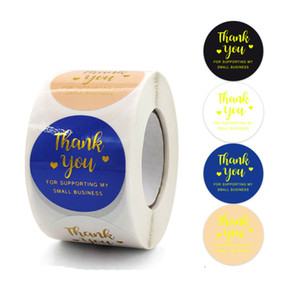 1.5inch 500pcs Thank You For Supporting My Business Adhesive Stickers Label Baking Bag Envelope Stationery Decor