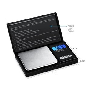 Digital Scale Pocket Mini Electronic Scales Flip Style with LCD Display 100g 200g 500g Range 0.01g for Jewelry Diamond Weight Balance